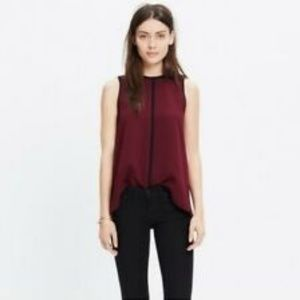 Madewell Crepe Canal Tank Top Size XSmall